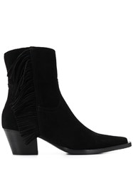 Pinko Cowboy Fringed Ankle Boots 60