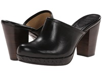 Frye Jessica Bohemian Slide Black Smooth Vintage Pull Up Women's Clog Shoes