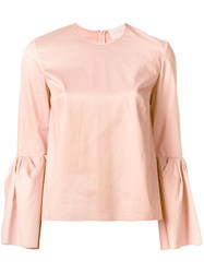 Roksanda Ilincic Peplum Sleeve Top Pink Purple