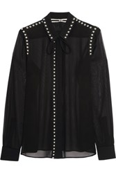 Mcq By Alexander Mcqueen Embellished Chiffon Blouse Black