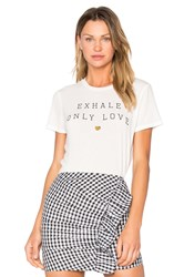 Spiritual Gangster Exhale Only Love Tee White