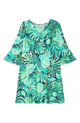 Lilly Pulitzer Ophelia Bell Sleeve Shift Dress Bright Navy Party Like