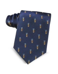 Marina D'este Golf Bag Light Blue Woven Silk Men's Tie
