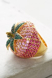 Anthropologie Strawberry Cocktail Ring Pink