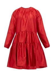 N 21 No. Tiered Satin Dress Red
