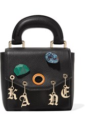 Christopher Kane Gypsy Bonnie Embellished Textured Leather Tote Black