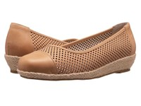 David Tate Nadine Natural Naked Calf Women's Flat Shoes Brown