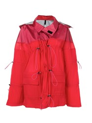 Unravel Project Drawstring Parka Coat Red