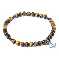 Anchor And Crew Brown Tigers Eye Starboard Natural Stone Bracelet