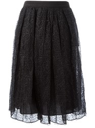 Brunello Cucinelli Lace Overlay Skirt Grey