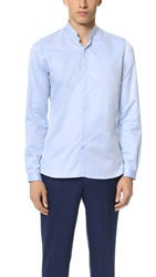 The Kooples Stand Collar Shirt Light Blue