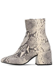 Jeffrey Campbell 70Mm Python Print Leather Boots Beige