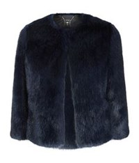 Ted Baker Forysia Faux Fur Jacket Blue