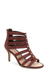 Sole Society Women's 'Anja' Cage Sandal Red Wine Suede