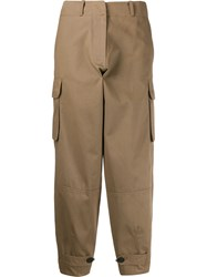 Antonio Marras Cropped Loose Fit Trousers Brown