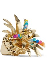 Rosantica Tropicale Gold Tone Quartz Ring S