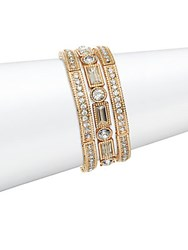 Natasha Goldtone Crystal Bangle Bracelet