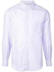 Brunello Cucinelli Micro Stripe Shirt Purple