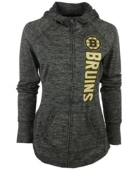 G3 Sports Women's Boston Bruins Recovery Hooded Sweatshirt Heather Charcoal