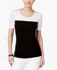 Inc International Concepts Colorblocked T Shirt Only At Macy's Deep Black