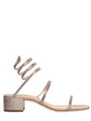Rene Caovilla 40Mm Satin And Swarovski Wrap Sandals