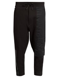 Y 3 Ft Cropped Cotton Track Pants Black