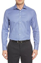 Luciano Barbera Men's Check Sport Shirt
