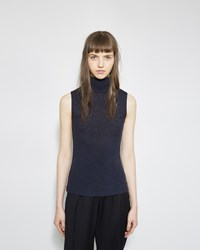 Alexander Wang Turtleneck Tank Navy