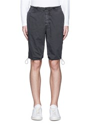James Perse Stretch Poplin Mountaineering Shorts Black
