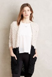 La Fee Verte Raina Colourblock Cardi Cream