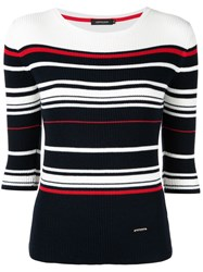 Loveless Striped Knitted Top Black