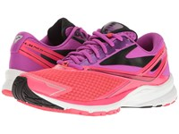 Brooks Launch 4 Purple Cactus Flower Diva Pink Black Women's Running Shoes