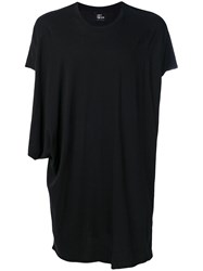 Lost And Found Ria Dunn Draped T Shirt Cotton Black