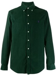 Ralph Lauren Long Sleeved Corduroy Shirt Green