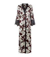 Marjolaine Printed Lace Trim Long Robe Female Multi