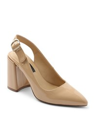 Kensie Tiffanie Point Toe Leather Pumps Natural