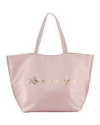 Neiman Marcus Rose All Day Printed Tote Bag Pink