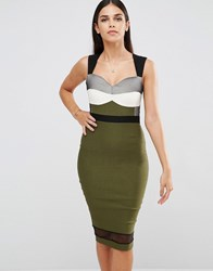 Vesper Sleeveless Pencil Dress Khaki Green