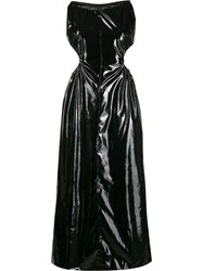 Maison Martin Margiela Pvc Halterneck Dress Black