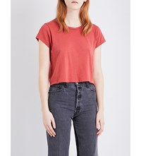 Re Done 1950S Boxy Jersey T Shirt Vintage Red