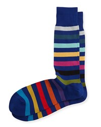 Rainbow Stripe Socks Navy Navy Paul Smith
