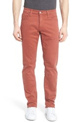 Mavi Jeans Men's Big And Tall Zach Straight Leg Brick Red Twill