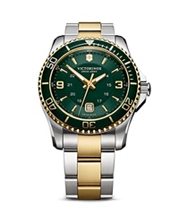 Victorinox Swiss Army Maverick Gs Bracelet Watch 43Mm Two Tone Green