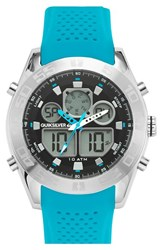 Men's Quiksilver 'The Fifty50' Silicone Strap Watch 48Mm