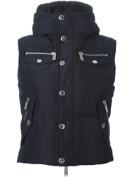 Dsquared2 Padded Gilet Blue