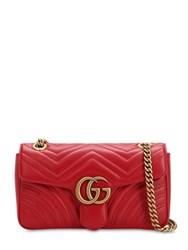 Gucci Small Gg Marmont 2.0 Leather Bag Red
