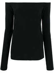 Norma Kamali Off The Shoulder Fitted Top Black