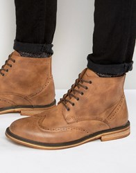 New Look Brogue Boots In Tan Tan