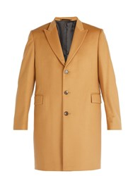 Paul Smith Single Breasted Wool And Cashmere Overcoat Camel