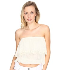 Jens Pirate Booty Cha Cha Tube Top Natural Women's Clothing Beige